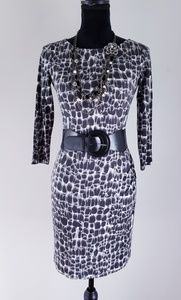 Ann Taylor Animal Print Bodycon Dress
